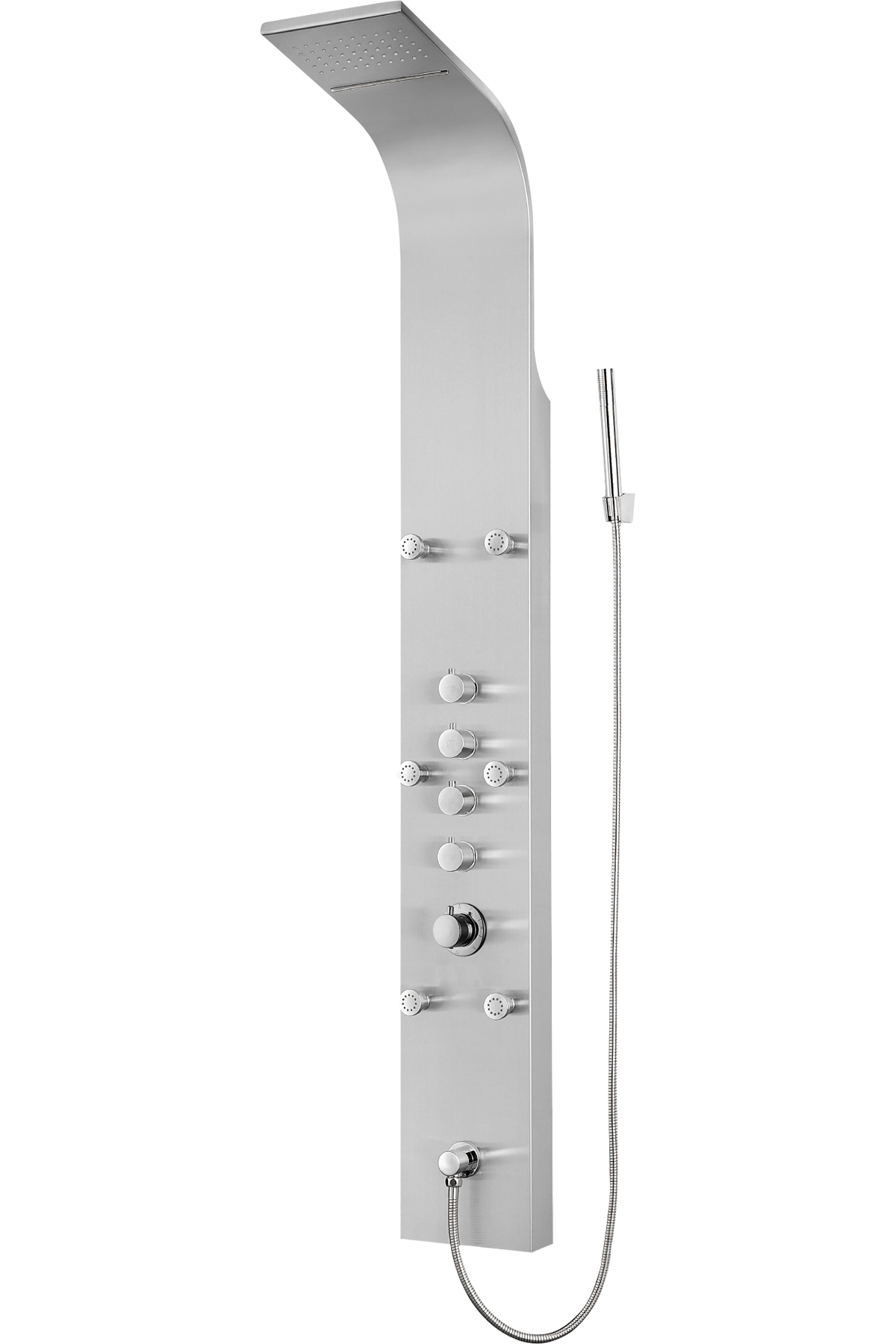 "65"" Thermostatic Shower Panel with Rainfall Overhead Showerhead"