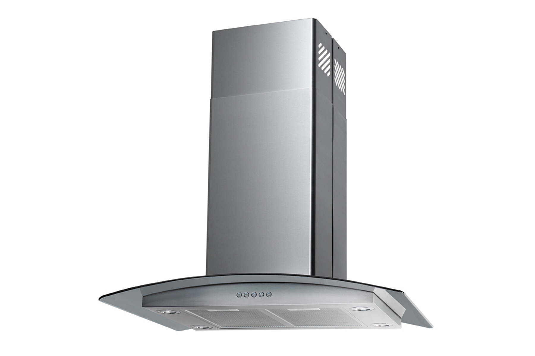 "30"" Island Stainless Steel Range Hood Vent with Charcoal Filter - Click Image to Close"