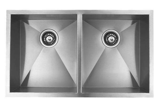 "32"" Undermount Stainless Steel Double Bowl Kitchen Sink - Click Image to Close"