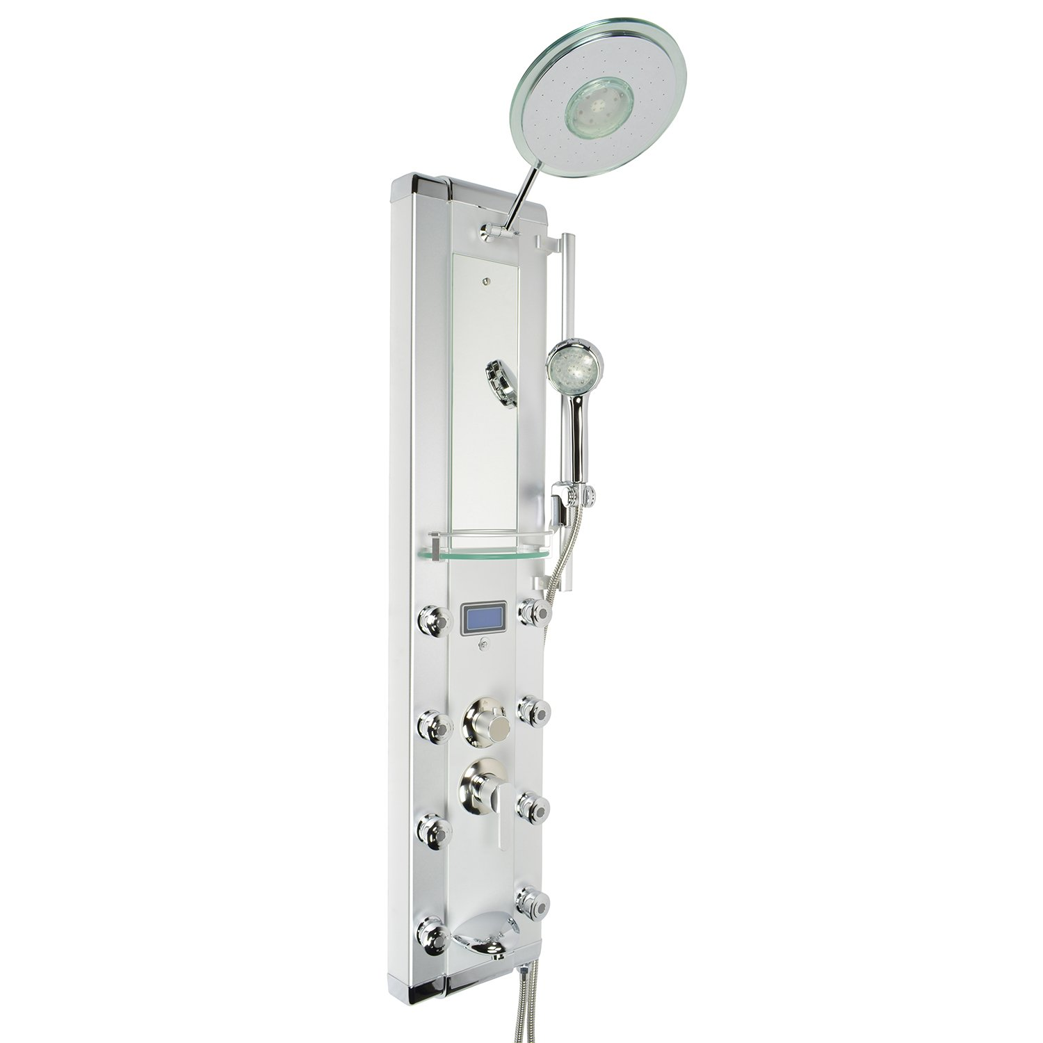 Blue Ocean 52 Aluminum Spa33d Shower Panel Tower With Rainfall Shower Head